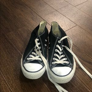 Black converse in average condition.